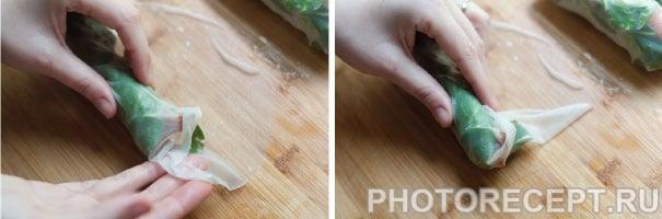Фото рецепта - Рулетики из рисовой бумаги с овощами и беконом - шаг 2