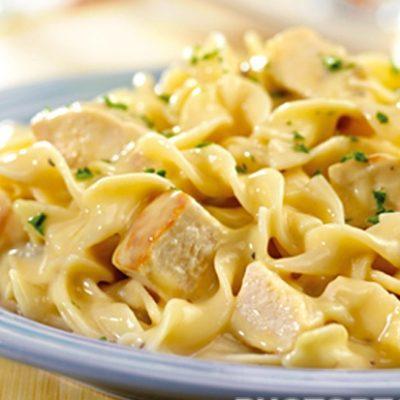 Спагетти с индейкой в сливочном соусе - рецепт с фото