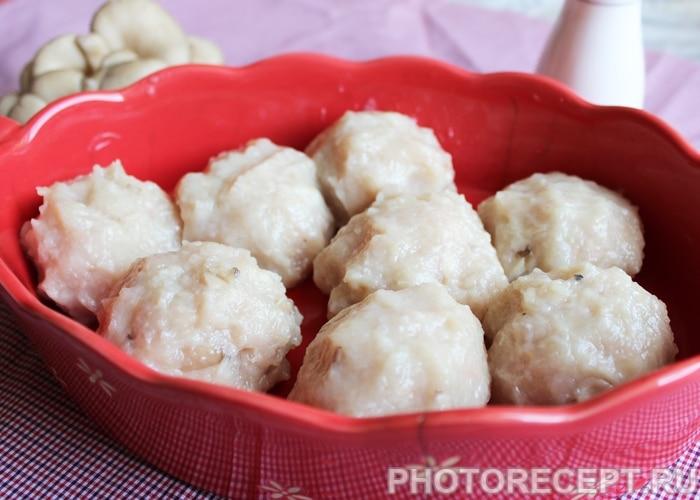Фото рецепта - Тефтели из индейки с грибами (в духовке) - шаг 3