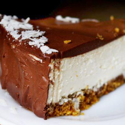 Творожный чизкейк с апельсиновым вкусом - рецепт с фото