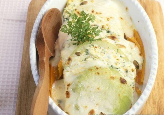 Запеченная капуста кольраби с сыром