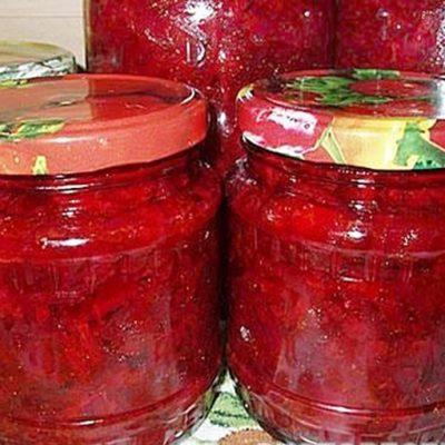 Заправка для борща из бурака, томатов и сладкого перца - рецепт с фото