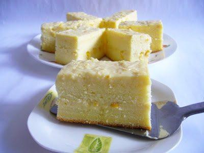 Заварной кекс на кукурузной муке - рецепт с фото
