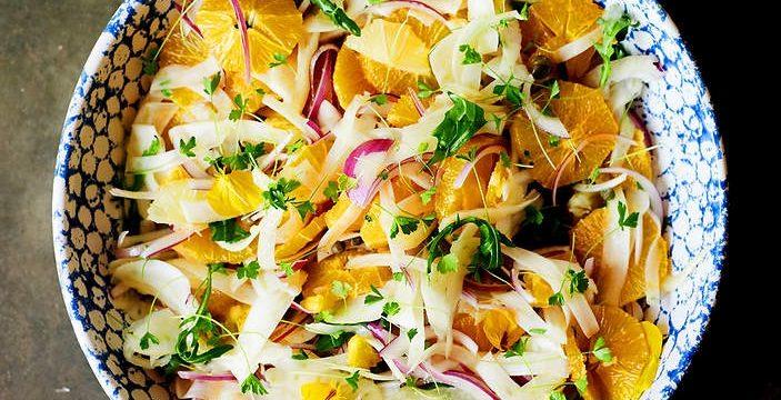 Цитрусовый салат с фенхелем