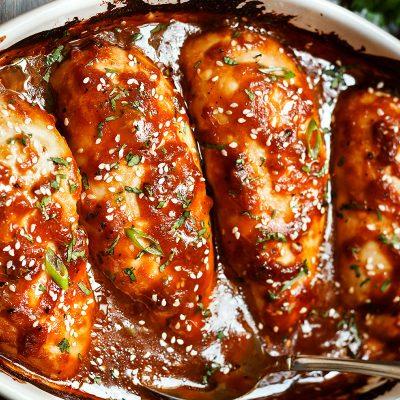 Филе курицы, запеченное под соусом терияки - рецепт с фото