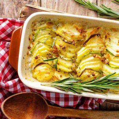 Французская картофельная запеканка с кабачками - рецепт с фото