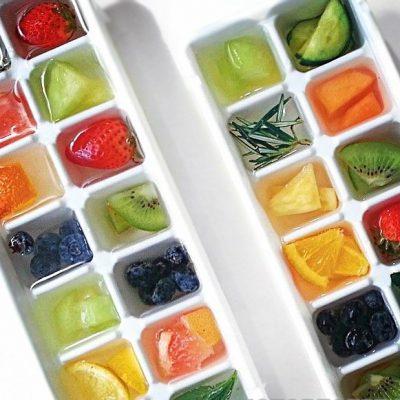 Фруктовый лед для напитков - рецепт с фото