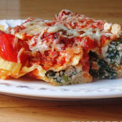 Каннеллони, фаршированные фета и помидорами - рецепт с фото