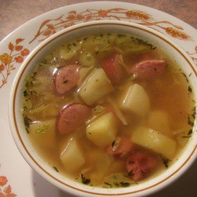 Картофельный суп с сардельками и капустой - рецепт с фото
