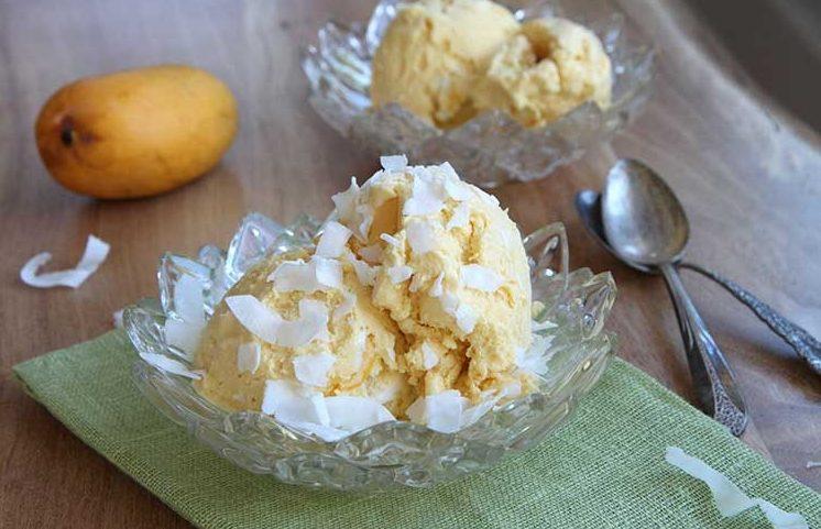Кокосово-манговый сорбет
