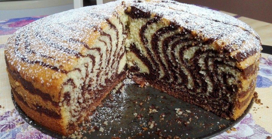 """Красивый и вкусный торт """"Зебра"""""""