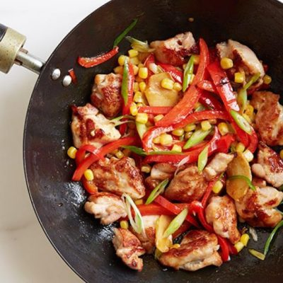 Курица с кукурузой и перцем по-мексикански - рецепт с фото