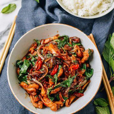 Куриное соте с мятой и овощами - рецепт с фото