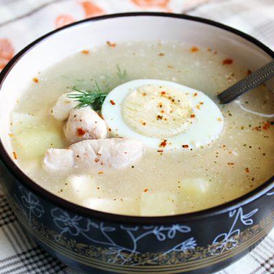 Куриный суп с гречкой и сыром - рецепт с фото