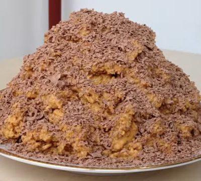 Нежнейший десерт из песочного печенья с шоколадом - рецепт с фото