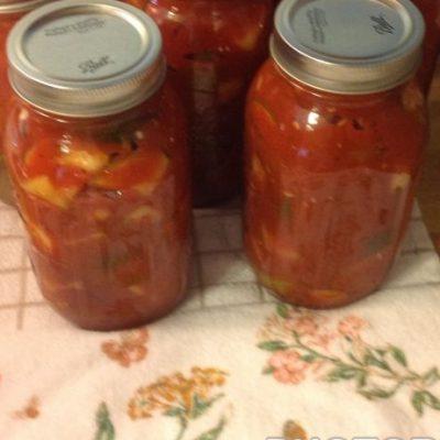 """Пикантные маринованные кабачки в томатном соусе """"По – быстрому"""" - рецепт с фото"""