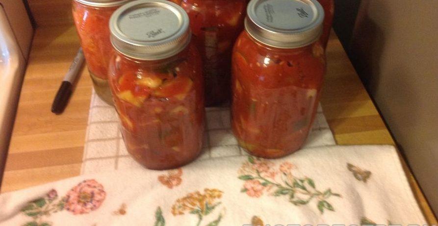 """Пикантные маринованные кабачки в томатном соусе """"По – быстрому"""""""