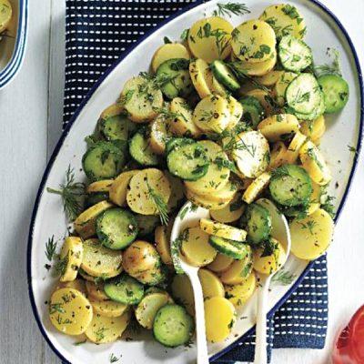 Салат из свежих огурцов и молодого картофеля - рецепт с фото