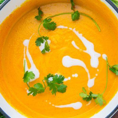 Сливочный крем-суп с добавлением моркови - рецепт с фото