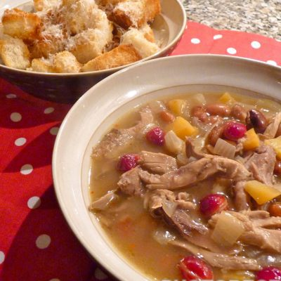 Суп из куриных окорочков с тыквой и фасолью - рецепт с фото