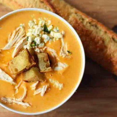 Суп пюре из тыквы с курятиной - рецепт с фото