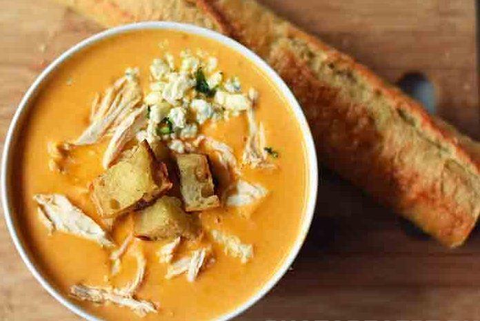 Суп пюре из тыквы с курятиной