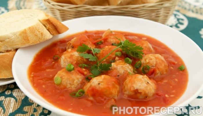 суп с фрикадельками томатный рецепт