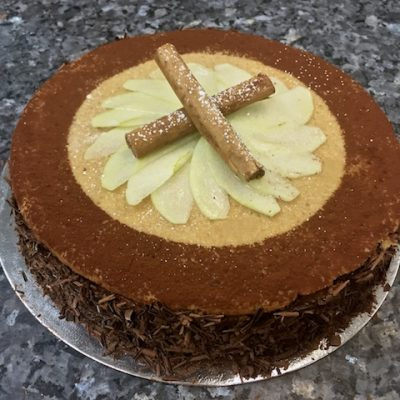 Торт Моцарт с яблоками и шоколадным муссом - рецепт с фото