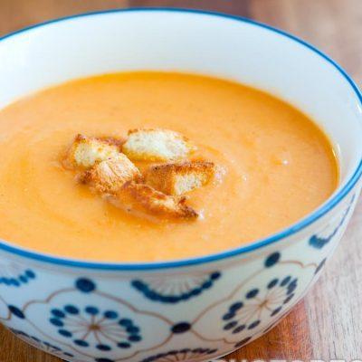 Тыквенный суп-пюре с картофелем и сыром - рецепт с фото