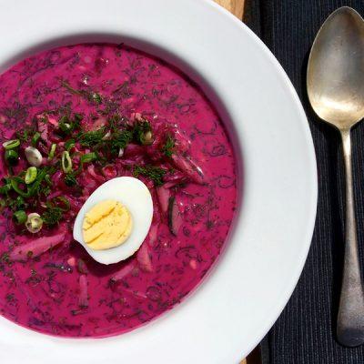 Холодник – холодный суп из свеклы - рецепт с фото