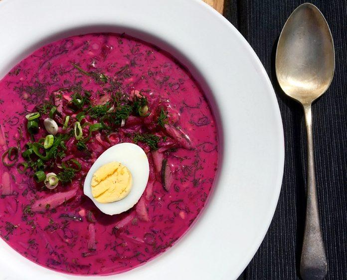 Холодник – холодный суп из свеклы