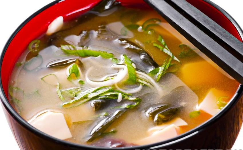 Японский суп с морепродуктами
