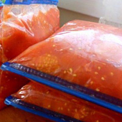 Замороженные помидоры на зиму - рецепт с фото