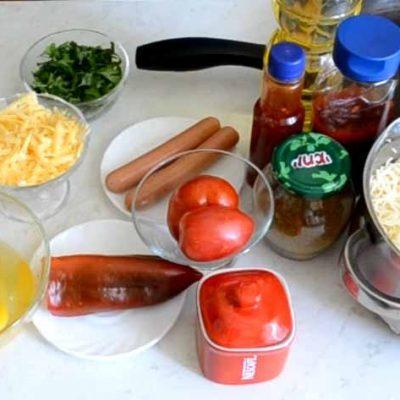 Фото рецепта - Макаронная пицца - шаг 1