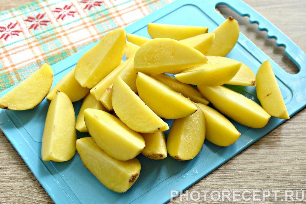 Фото рецепта - Картофель в духовке как в Макдональдсе - шаг 1