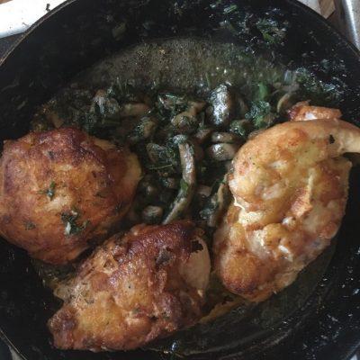 Курица с грибами – быстрый домашний рецепт - рецепт с фото