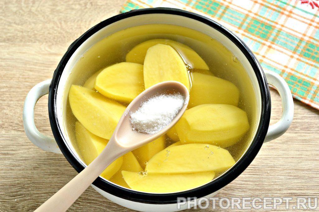 Фото рецепта - Воздушное картофельное пюре на сливках - шаг 2