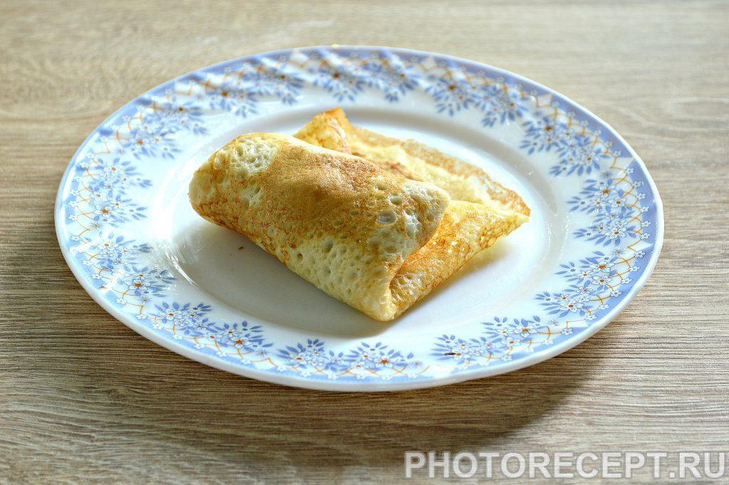 Фото рецепта - Блинчики с начинкой из ливерной колбасы - шаг 5