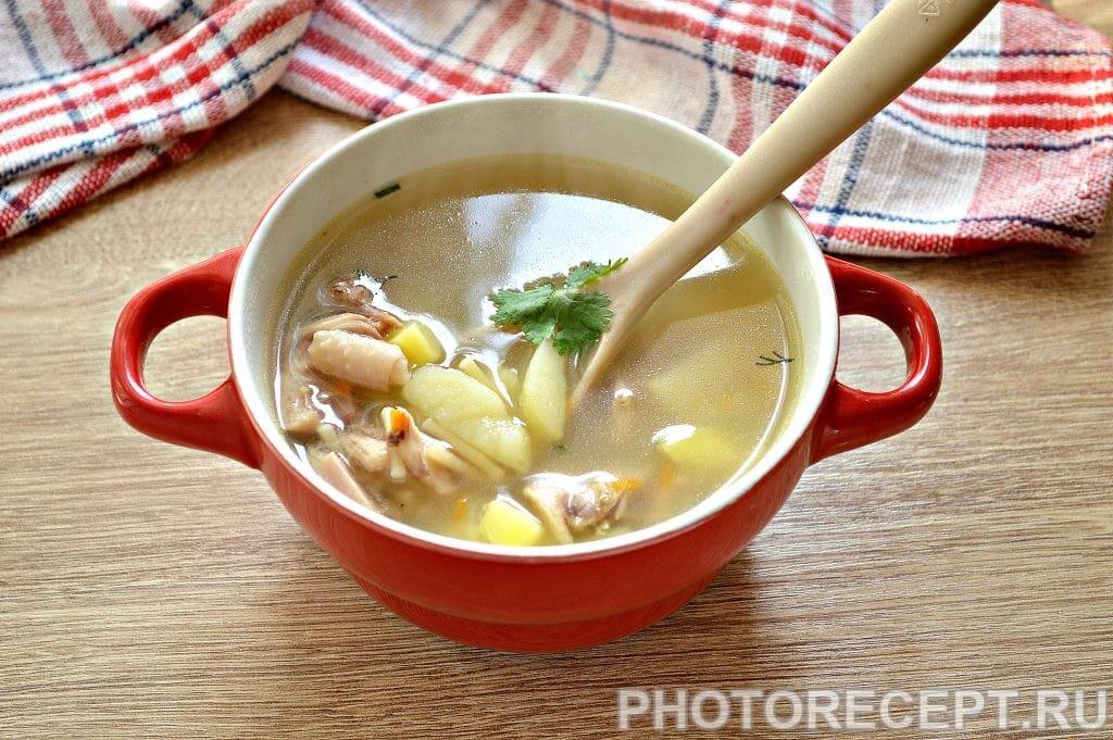 Фото рецепта - Суп из гуся с вермишелью - шаг 6