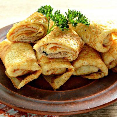 Блинчики с начинкой из ливерной колбасы - рецепт с фото