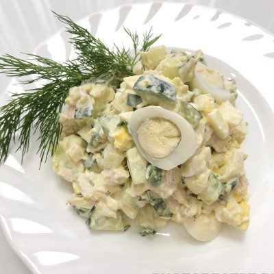 Сытный салат - рецепт с фото