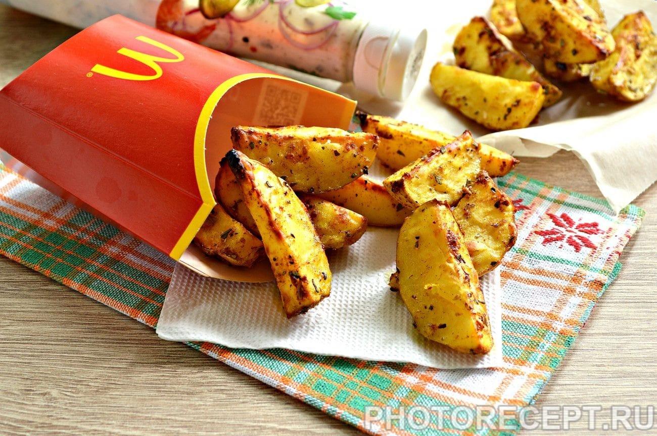 Картофель в духовке как в Макдональдсе