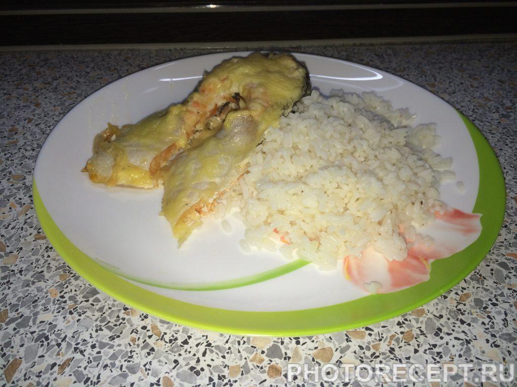 Фото рецепта - Форель, запеченная в сметанном соусе - шаг 5