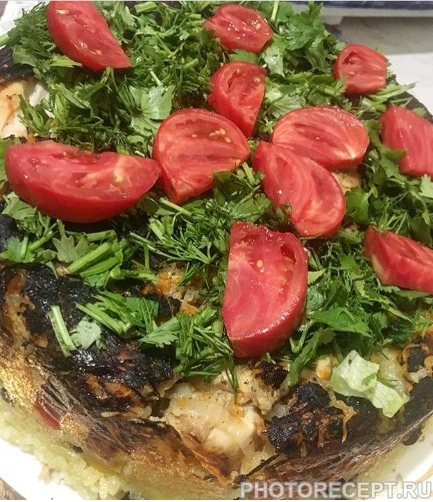 Плов с красной фасолью и овощами