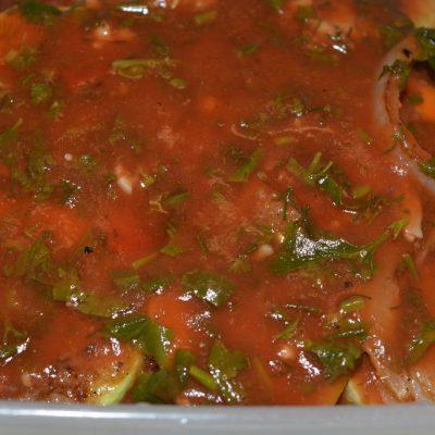 Холодная закуска из кабачков в томате - рецепт с фото