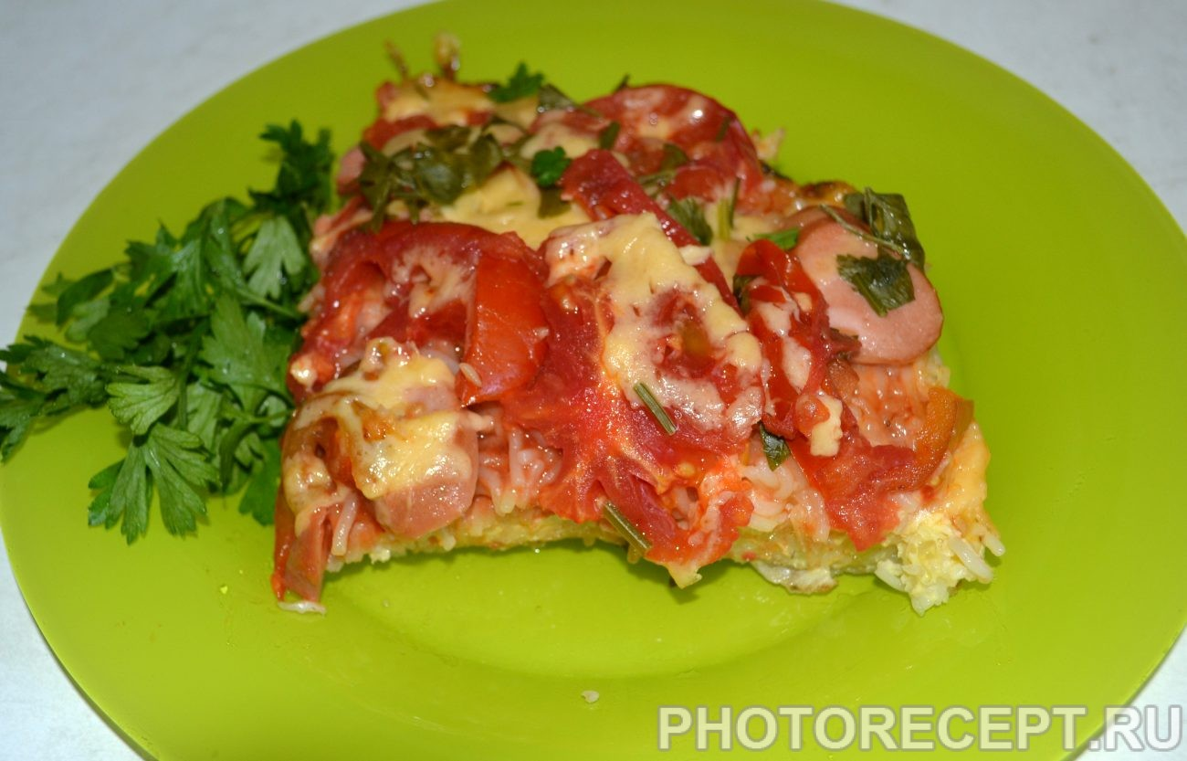 Макаронная пицца