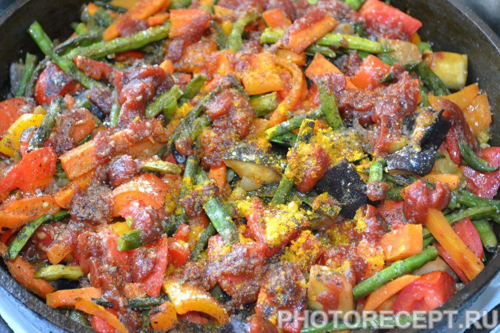 Фото рецепта - Спаржа с овощами - шаг 8
