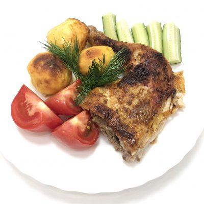 Фото рецепта - Курица, запечённая с картофелем - шаг 6