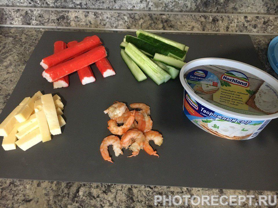 Фото рецепта - Роллы с креветкой по-домашнему - шаг 1