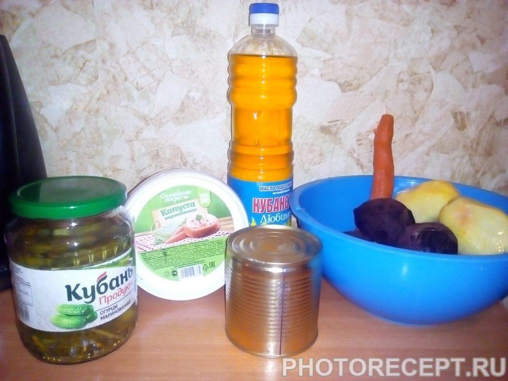Фото рецепта - Винегрет - шаг 1